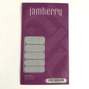 Jamberry Nail Wraps Country Club Striped White